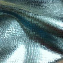 Snake Metallic Blue Leather